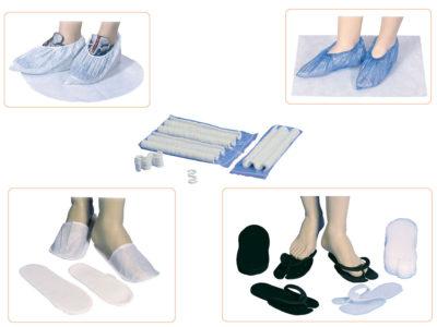 Zapatillas, peucos y cubrezapatos desechables