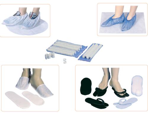 Zapatillas, peucos, cubrezapatos y separadedos pedicura